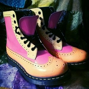 Multicolored doc martens US size 7 UK size 5